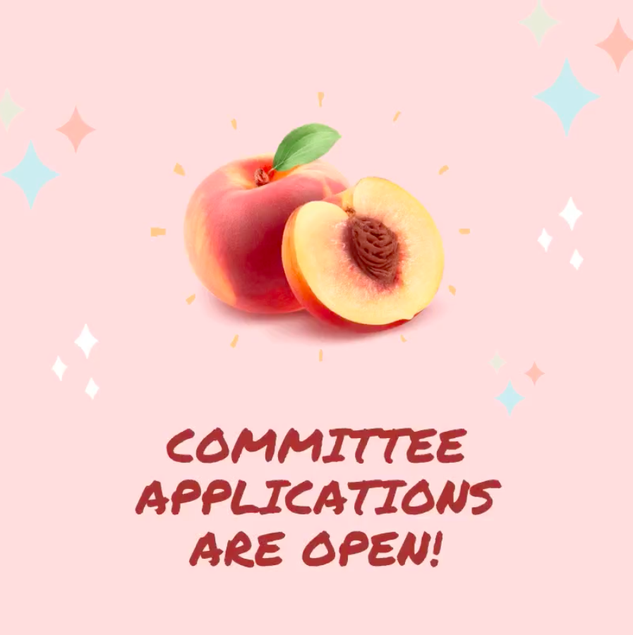 Committee Applications for PEACH 2020/21 are OPEN