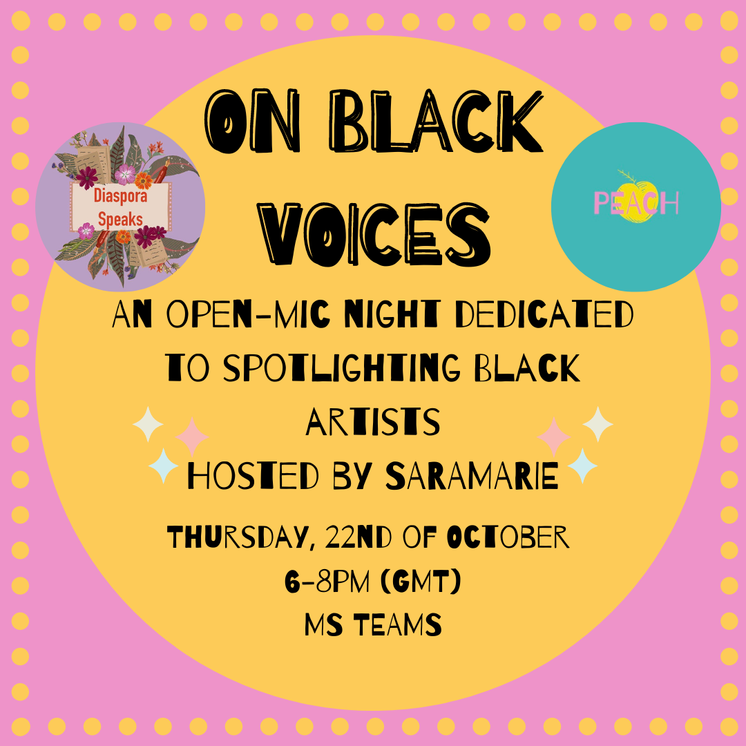 Calling Black Artists and Creatives! Sign up to perform at our Black History Month Event: On Black Voices