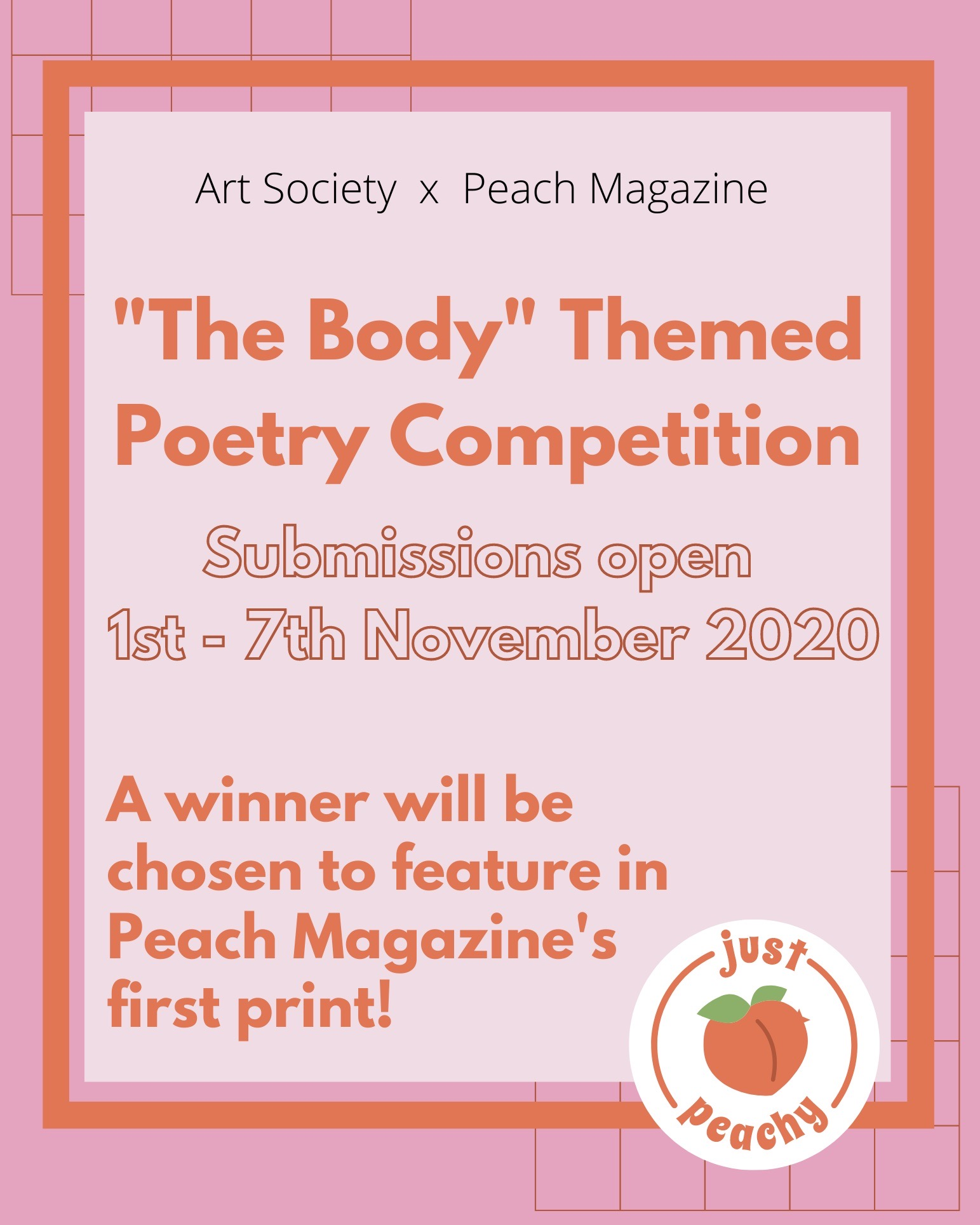 PEACH x QMUL Arts Society Poetry Competition