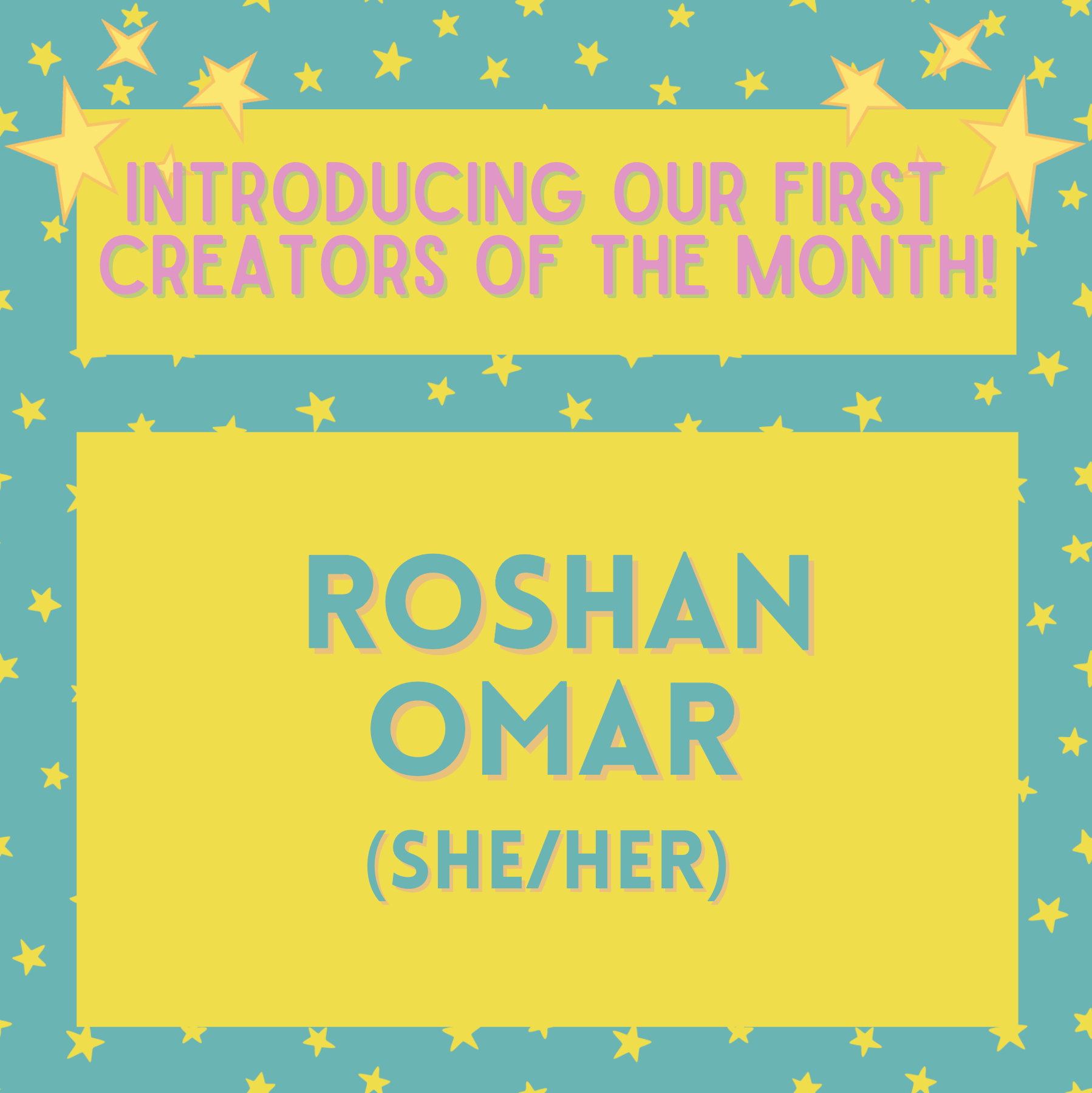 PEACH x QM Arts Society present: Creator of the Month – Roshan Omar
