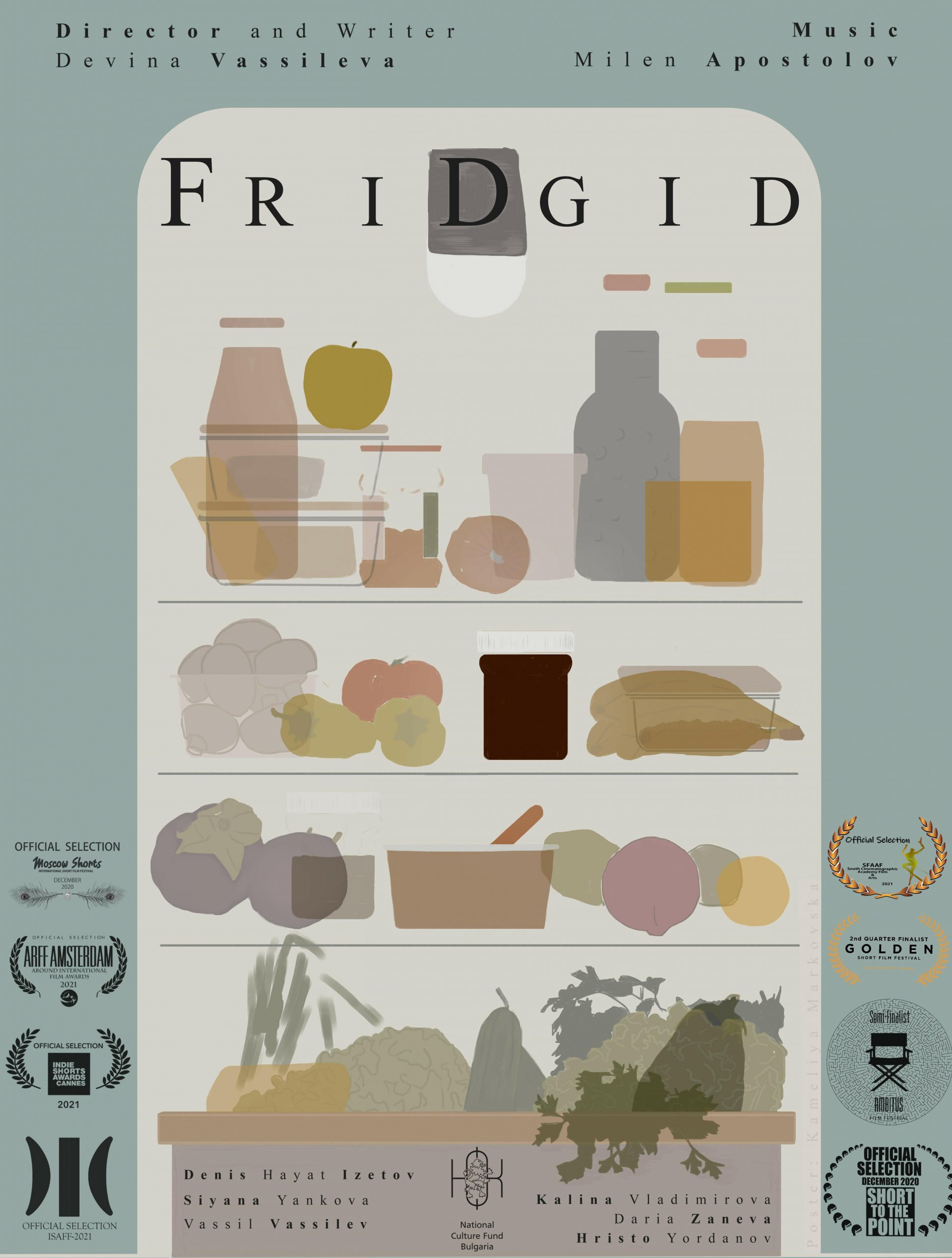 Come to the screening of Devina Vassileva's award-winning film 'FriDgid'