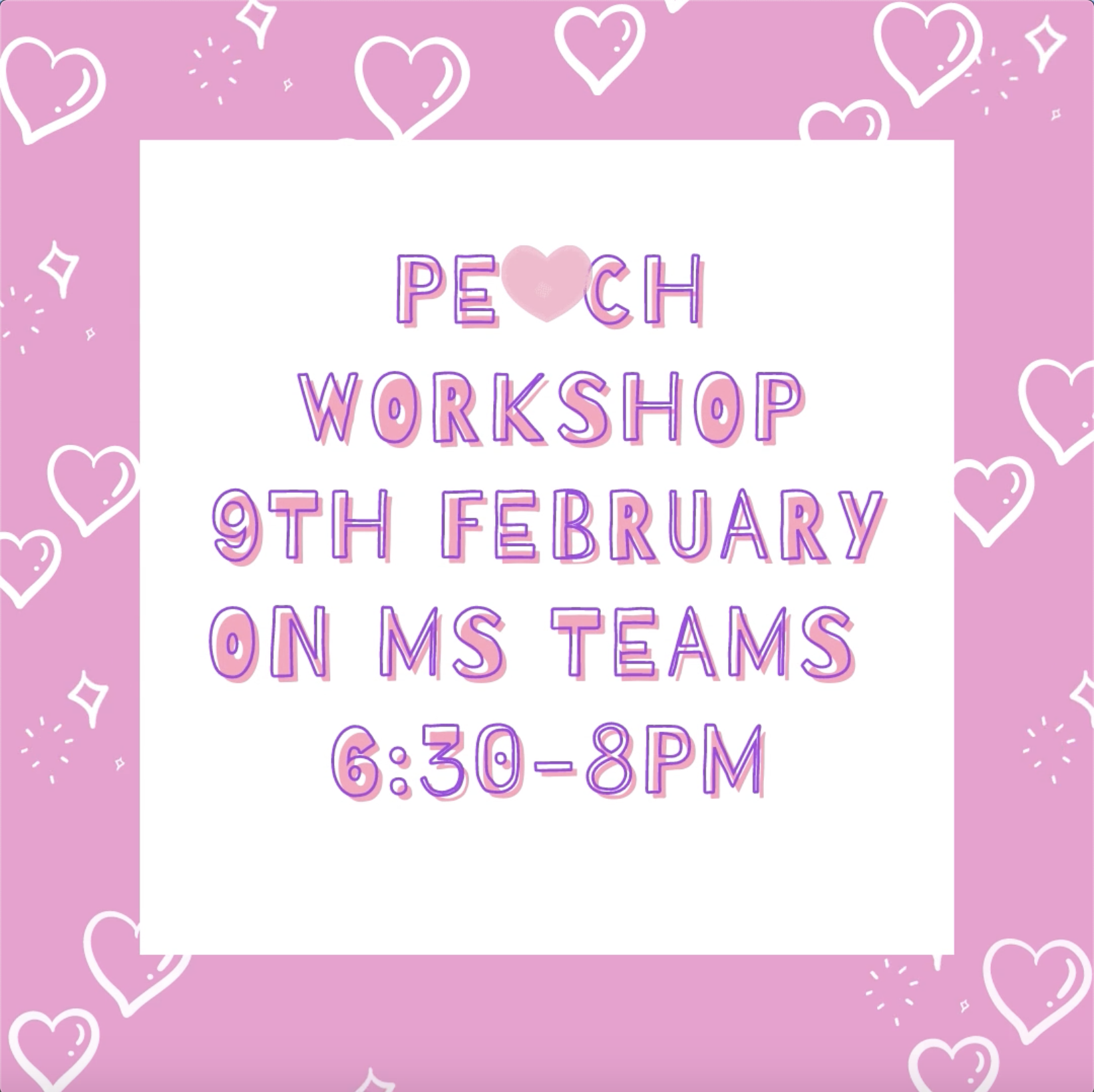 Come join us at our love-themed workshop!